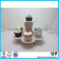 2 tire corrugated stand for wedding cake