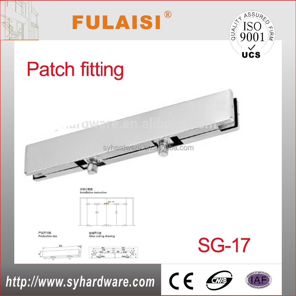 Top patch fitting for glass door buy top patch fitting glass door - Stainless Steel Glass Long Top Patch Fitting Buy Glass