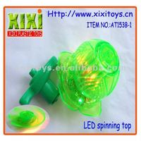 13Cm Promotional Flower Shape With Music Plastic Led Top Spin