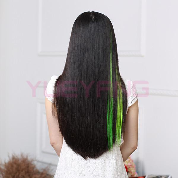 Clip In On Highlight Colour Hair Extension Single Piece Streak Buy