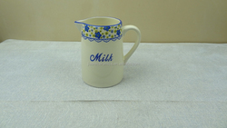 hot selling blue flowers ceramic pitcher
