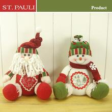 Fashion holiday decor plush cotton fabric snowman holiday gift