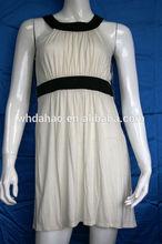 elegante blanco sin mangas vestido de las últimas fotos diseños