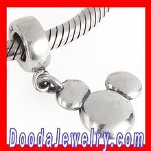 Fashion 925 Sterling Silver Jewelry Cartoon Mouse Head Dangle Charm