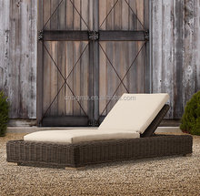 2015 New design outdoor daybed resin rattan sun lounger