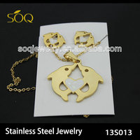 wholesale dolphin gold plated jewelry sets