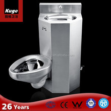 """14 Gauge 18"""" stainless steel chinese one piece toilets for sale"""