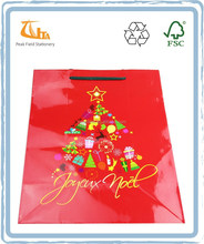 Christmas Cute Printed Gift Paper Shopping Bag and Custom Paper Bags