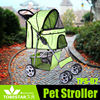 Pet Dog Trolley Stroller with 4 Wheels and Round Canopy