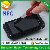 Factory Best NFC RFID Rugged mobile phones with 4.3 Inch Quad core CPU IP67 waterproof Dustproof Shockproof Military Cellphones