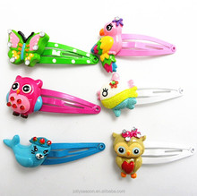 Baby boutique wholesale China Animal Hair snap clip set Barrette hairpin designed for baby toddler young girl
