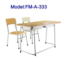 China double desk and chair school