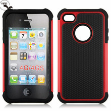 Wholesale Price For iPhone4 Cases for i4S Back Cover with 3 in 1