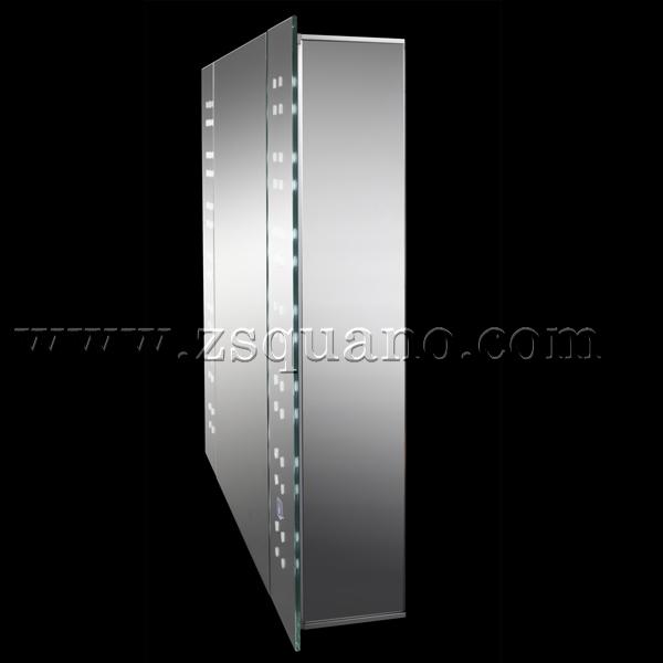 lujo bao lavabo espejo gabinete con luz led
