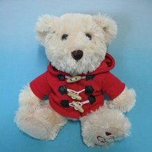 Plush Toy | Lovely Teddy Bear with Red Overcoat