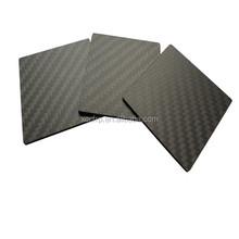 3 k fibra de carbono brilhante conselhos 500 x 500 mm para corte CNC