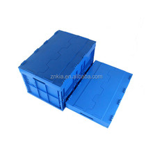 Plastic storage box with cross cover suitable for all industry