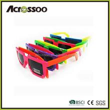 Custom 8 bit party neon wholesale pixel sunglasses/custom pixel 8 bit sunglasses