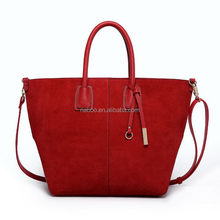 Discount genuine snake leather tote bag/rivets leather tote bag/plain leather tote bag