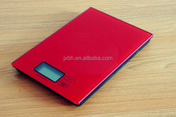 High quality digital electronic food kitchen scale Tempered glass red color