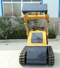 China small skid steer loader with standard bucket for sale