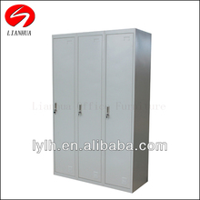 Metal high tech furniture 3 door clothing steel locker/wardrobe