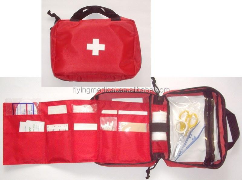 Fda et CE approuvés rouge croix famille / bureau / atelier trousse de premiers soins