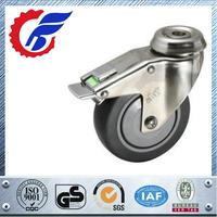 TPE Caster Wheel Swivel Stainless Steel With Brake