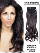 natural curly one piece clip in syntehtic hair extension
