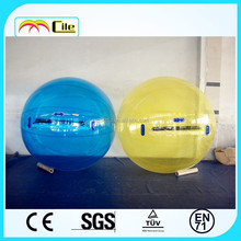 CILE hot sell Inflatable pure yellow water walking ball for sale for kids for adults