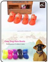 Cute Sporty Waterproof Puppy Carton Silicon Dog Rain Boots