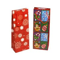 China manufacture wholesale christmas wine gift bags