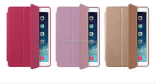 2015 Original 3 folded styles Stand Flip Leather Ultra Thin Smart Cover leather case for ipad air wholesale