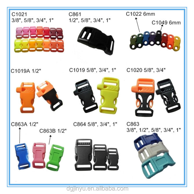 Curved plastic side release buckle/side release plastic buckles for Pet Collars