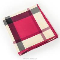 100cm*100cm women British style 100% twill silk stripe scarf plaid scarf spring new design