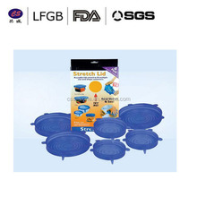 new design100% Food grade LFGB silicone keep freshing cover ,High quality custom silicone rubber cover
