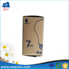 Promotion recycled folding led light brown kraft paper box