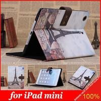 New Classic Retro Nostalgia Style Flip Stand Leather Case for iPad mini
