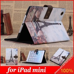 New Classic Retro Nostalgia Style Flip Stand Leather Case for iPad mini