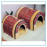 Fashion wholesale folded cozy dog dome pet house