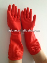 Long Sleeve Household Rubber Glove/Long Cleaning Household Latex Glove