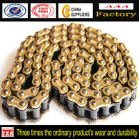 Motorcycle Transmission 428h Motorcycle Drive Chain,Golden Chain