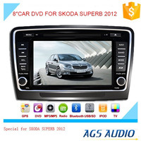 8 inch fixed digital panel car DVD player for SKODA SUBERB with MP3/ GPS TV/ bluetooth