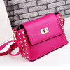 2015 Special rivet PU leather handbag good quality leather bags for ladies bag with rivet