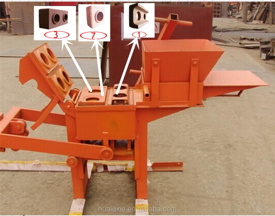 Blocks Interlocking Press Earth Us : Manual clay soil mud earth interlocking brick block making