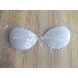 Lace surface 100% silicone self-adhesive bra,magnetic bras