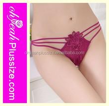 Cross strap transparent mesh ladies' sexy fancy panty thong