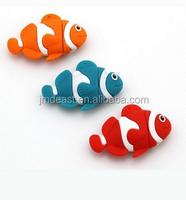 2015 Customized high quality pvc usb flash drive, 3D fish shape pvc usb