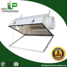Smart hydroponics air cooled aluminum grow light reflector/glass lamp shade with 2 years warranty