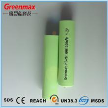 Long life 1.2v aaa 1000mAh nimh rechargeable battery